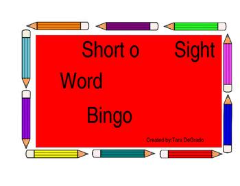 Short o bingo game