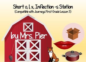 Short o, l, x, Inflection s Station (Compatible Journeys 1st Grade Lesson 3)