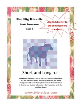 Short o long o Scott Foresman Big Blue Ox