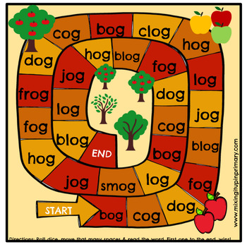 Short o - og Word Family Activities