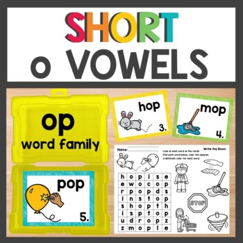 op Word Family Phonics Pack