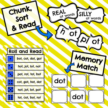 Short o - ot Word Family Activities