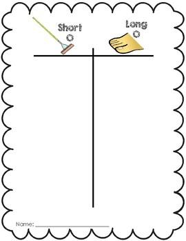 Short 'o' vs. Long 'o' Cut and Paste Activity
