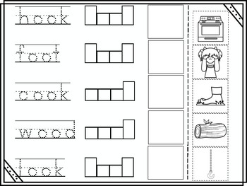 Short oo Vowel Digraph Cut and Paste