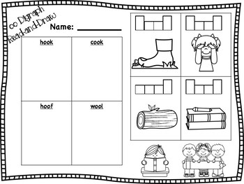 Short oo Vowel Digraph Read-and-Draw