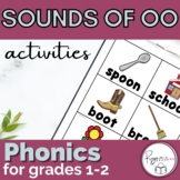 Short oo and Long oo Word Work Activities Pack