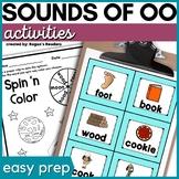 Short OO and Long OO Phonics Activities