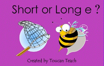 Short or Long e SMARTBoard Activities