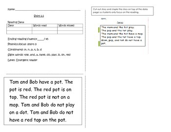 Short story and worksheets 2.1 (short o)