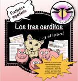 Short story in Spanish: Los tres cerditos y el lobo - Prac