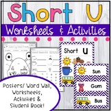 Short U Worksheets - Short U Activities