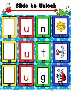 Short Vowels CVC Blending Cards (Short u) Words