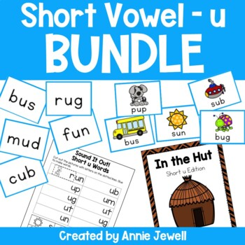 Short u BUNDLE Working on Sounds and Words Activities, Flashcards, & Printables