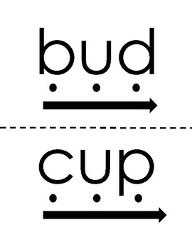 Short u Blending Cards (CVC Words)