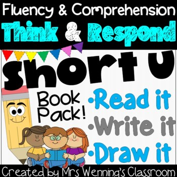 Short u Book: Think and Respond! 2 versions included!