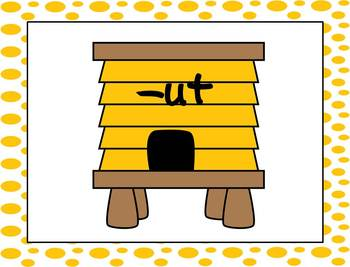 Short u Buzzing Bees CVC word sort for Small Group/Centers FREEBIE