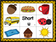 Short u CVC Mat with matching pictures, words and recordin