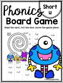 Short u (CVC)  PHONICS BOARD Game