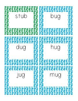 Short 'u' CVC Word Cards