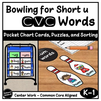 Short u CVC Word Families - Bowling Theme