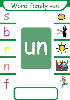 Short  u CVC  Word Families ( -ub, -ug, -un, -ut )
