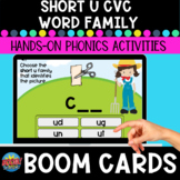 Short-u  CVC Word Family Boom Cards