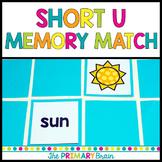 Short u CVC Word Memory Match Game