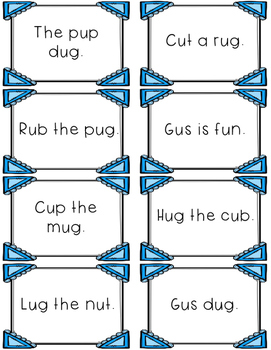 Short u - Differentiated Sentence Fluency Cards