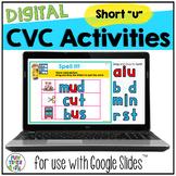 CVC Short u Digital Word Work | Google Slides™
