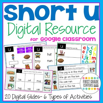 Short u Digital Resource for Google Classroom