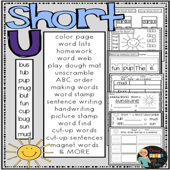 Short u Hands-on Spelling and Phonics