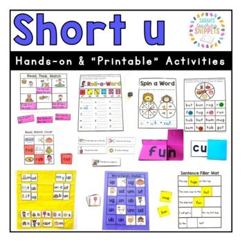 Short u Phonics Practice Pack