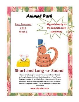 Short u Long U Scott Foresman Animal Park