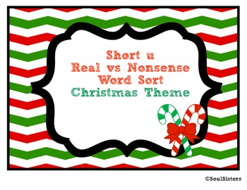 Short u Real vs. Nonsense Word Sort and Tree Map - Christm