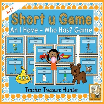 Short u VOWEL card GAME I have who has  35 cards with pictures