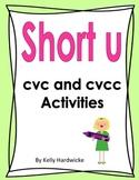 Short u Vowel Activities