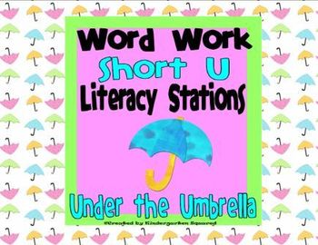 Short u Vowel Word Work Literacy Station Pack