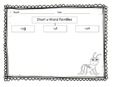 Short u Word Families Tree Map