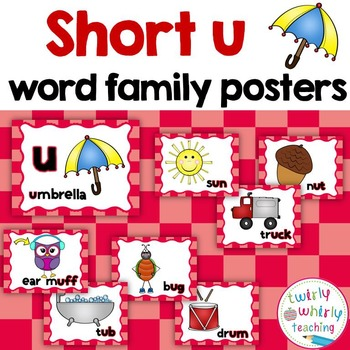 Short u Word Family Posters