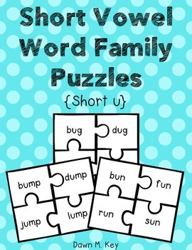 Short u Word Family Puzzles