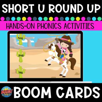 Short-u Word Family Roundup CVC Boom Cards
