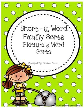 Short -u Word Family Sorts