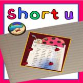 Short u Worksheet and Craft
