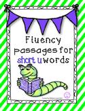 Short u reading fluency pyramids