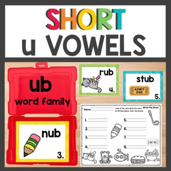 ub Word Family Phonics Pack