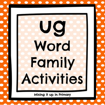 Short u - ug Word Family Activities