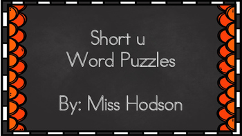 Short u word puzzles