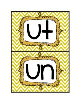 Short-u word sort