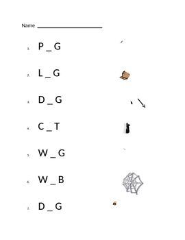 Short vowel Assessment