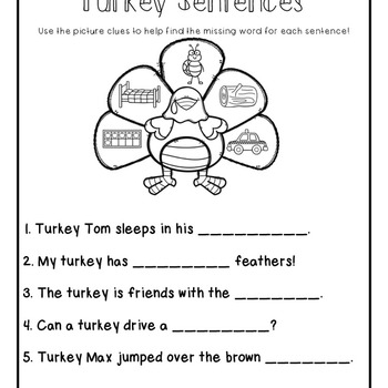Short vowel cvc Turkey Sort